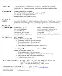 General Ledger Accountant Resume Sample by Sample Accounting Resume 6 Documents In Pdf