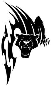 vicious tribal panther sreaming tattoo design football program