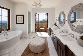 Bathroom Ottoman Traditional Master Bathroom With Raised Panel Frameless