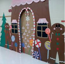 christmas door decorating contest gingerbread house 53 classroom