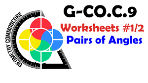 g co c 9 worksheets 1 2 pairs of angles youtube