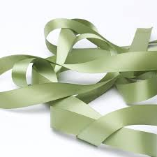 green satin ribbon olive green satin ribbon