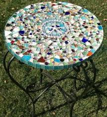 Mosaic Top Patio Table I Made Several Mosaic Tabletops They Are So Easy And