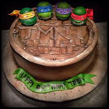 tmnt cake this tmnt cake was made for a excited 6 year figures are