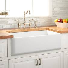 Kitchen Sink Table Wine Modern Kitchen Reversible Farmhouse Sink White Curved Front