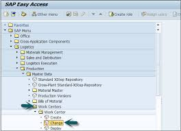 Sap Material Master Tables by Sap Pp Work Center