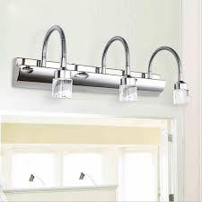 crystal bathroom light fixtures stainless steel led bath vanity