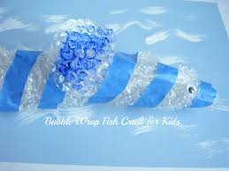 a bubble wrap fish craft for kids to make preschool toolkit
