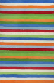 Yellow Striped Rug Kas Rugs Kidding Around 435 Cool Stripes Area Rug