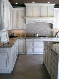 Antique Kitchen Cabinets Painted Glazed Kitchen Cabinets Pictures Antique White With Pewter