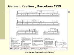 Barcelona Pavilion Floor Plan Philosophies Of Mies Vander Rohe