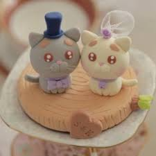 cat wedding cake toppers custom cat and groom wedding cake toppers
