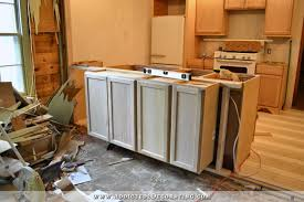 install kitchen base cabinets peninsula cabinet installation almost finished