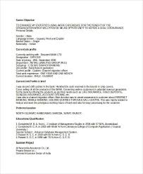 Sample Of Resume For Banking Job by Banking Resume Samples 45 Free Word Pdf Documents Download