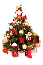 tree decorated in and gold stock image image 12094645