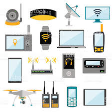 electronic gadgets wifi remote control electronic gadgets vector icons stock vector