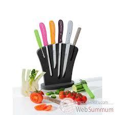 econome cuisine l econome bloc 6 couteaux assortis cuisine 11385 dans coutellerie