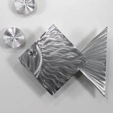 Tropical Fish Home Decor Amazon Com Statements2000 3 Piece Set Decorative Metal Fish