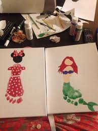 minnie mouse and ariel footprint things i u0027ve made pinterest