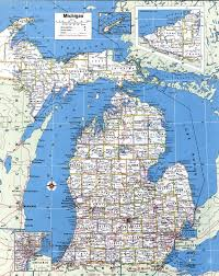 Map Of Usa And Cities by Large Detailed Administrative Map Of Michigan State With Roads And