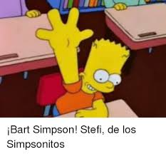 Bart Simpson Meme - bart simpson stefi de los simpsonitos bart simpson meme on me me