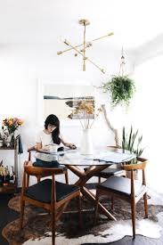 bohemian dining table rectangular ivory fury rug stylish mid
