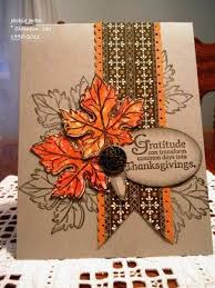 handmade thanksgiving card by jj rubberduck kraft base