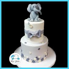 baby shower cake elephant and buttons baby shower cake blue sheep bake shop