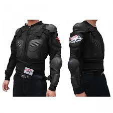 motorbike vest biker motorcycle hard shell safety jacket size l black