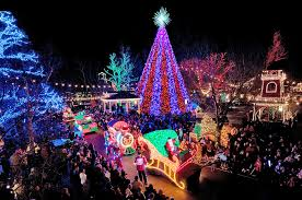 christmas lights in missouri though the entire theme park of silver dollar city set in the