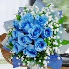 Blue Roses For Sale 3 Florist Artificial Blue Roses Bouquet Arrangement Singapore