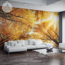 wall murals wall tapestries canvas wall art wall decor autumn treetop wall mural self adhesive peel stick photo mural forest wall mural