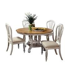 Antique White Dining Room Furniture Hillsdale Wilshire 5 Piece Round Dining Table Set In Antique White
