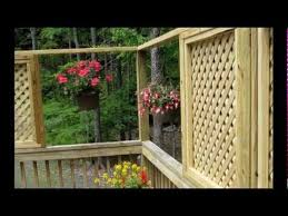 How To Build A Handrail On A Deck How To Add Lattice Windows To A Deck Youtube