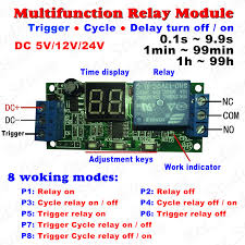 dc 12v 24v led display cycle delay timing timer relay switch turn