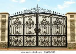 wrought iron gate stock images royalty free images u0026 vectors