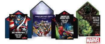 free marvel online invitations punchbowl punchbowl