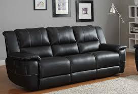 Leather Recliner Sofa Set Deals Black Leather Recliner Sofa Mforum