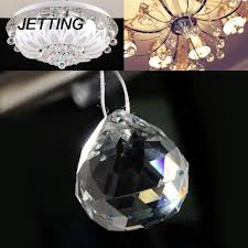 jetting 1pcs faceted glass crystal chandelier parts pendant prisms lighting ball clear suncatcher lamp decoration