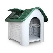 large weatherproof plastic dog kennel pet puppy outdoor indoor