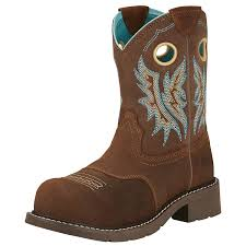 womens boots work ariat womens fatbaby fireside composite toe work boots