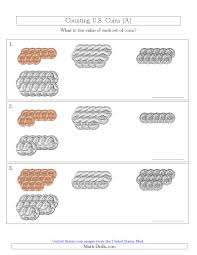 Coin Worksheets Counting U S Coins Sorted Version A