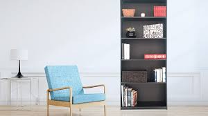 narrow black bookcase unfinished pine bookshelves american hwy best shower collection