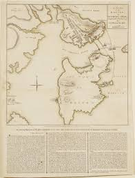1775 Map Of Boston by Rare Broadside Of The Battle Of Bunker Hill Rare U0026 Antique Maps