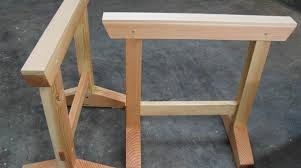Diy Sawhorse Desk by How To Build Japanese Sawhorses Make