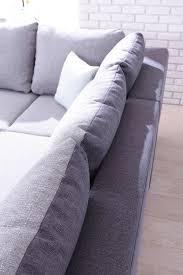 grand coussin de canapé minty grand angle droit bicolore canapés convertibles salon