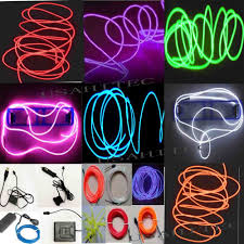 installing led lights in car neon led light glow el wire string strip tube decor car party