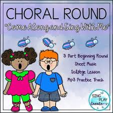 song and solfege lesson come along and sing with me 3 part
