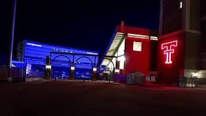 texas tech neon light jones at t stadium at texas tech was lit wlbt 3 on your side