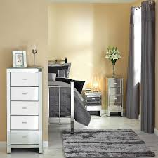 Mirrored Bed Mirrored Master Bedroom Furniture Square Shape Wooden Bedside